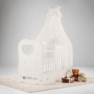 Фотография товара островок уюта Кровать детская Слоненок (айвори) маятник поперечный с ящиком (663375)