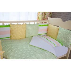 все цены на Комплект в кроватку с бортиками-подушками By Twinz 6 пр. Амелия онлайн