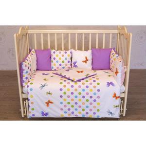 Фотография товара by Twinz Комплект в кроватку с бортиками-подушками 6 пр. Бабочки (663613)