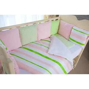 цены Комплект в кроватку с бортиками-подушками By Twinz 6 пр. Глория