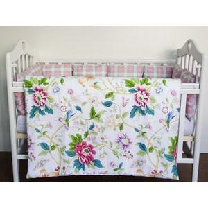 Комплект в кроватку с бортиками-подушками By Twinz 6 пр. Колибри