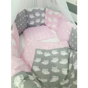 Комплект для круглой кроватки By Twinz Совята Розовые 48531 ярко розовые и светло розовые розы в средней круглой вазе со скошенным верхом