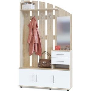 Прихожая СОКОЛ ВШ-2.2 дуб сонома/белый комплект офисной мебели сокол сокол р белый