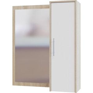 Шкаф настенный СОКОЛ ПЗ-4 с зеркалом дуб сонома/белый шкаф купе угловой диван ру байкал 45 7 дуб сонома