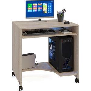 Стол компьютерный СОКОЛ КСТ-15 дуб сонома стол компьютерный сокол кст 104 1 испанский орех правый
