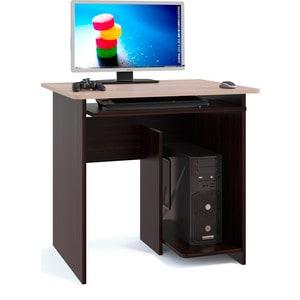 Стол компьютерный СОКОЛ КСТ-21.1 венге/беленый дуб маленький круглый стеклянный стол на кухню кубика шанхай к стекло темно коричневое беленый дуб