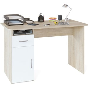 Стол компьютерный СОКОЛ СПм-03.1 Стол письменный с тумбой Дуб сонома/белый компьютерный стол кс 20 30