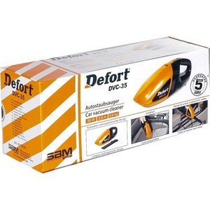Автомобильный пылесос Defort DVC-35 автомобильный пылесос phantom ph2001 12v 78w 2 насадки