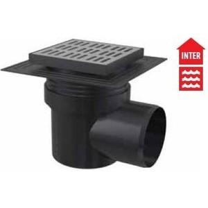 Душевой трап AlcaPlast 150х150/110 подводка - боковая, гидрозатвор - мокрый (APV12C)  трап прямой пластиковый 150х150 50 мм гидрозатвор haco