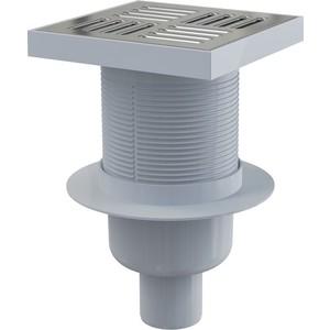 Душевой трап AlcaPlast 150х150/50, подводка - прямая, гидрозатвор - мокрый (APV6411)  трап прямой пластиковый 150х150 50 мм гидрозатвор haco
