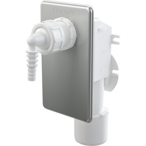 Сифон AlcaPlast для сбора конденсата под штукатурку, нержавеющая сталь (AKS7)