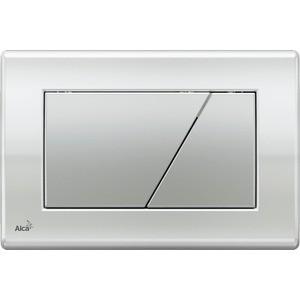 Клавиша AlcaPlast хром глянцевая, кнопка - матовая (M173)