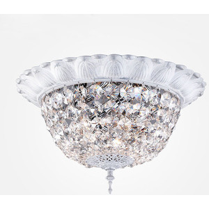 купить Потолочный светильник Eurosvet 10067/5 белый с серебром Strotskis недорого