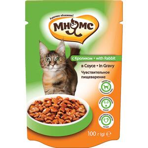 Паучи Мнямс with Rabbit in Gravy кусочки с кроликом с соусе чувствительное пищеварение для кошек 100г
