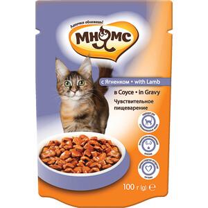 Паучи Мнямс with Lamb in Gravy кусочки с ягненком с соусе чувствительное пищеварение для кошек 100г