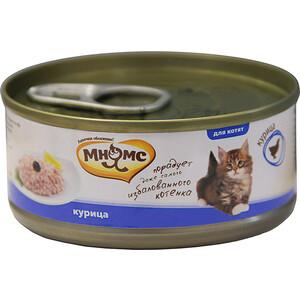 Консервы Мнямс Курица в нежном желе для котят 70г консервы gimborn gimpet shinecat kitten tuna тунец для котят 70г 413358