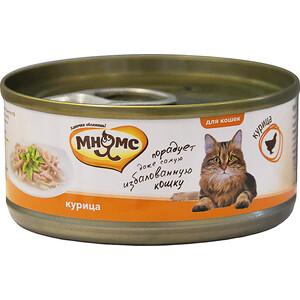 Консервы Мнямс Курица в нежном желе для кошек 70г купить болгарские консервы в москве
