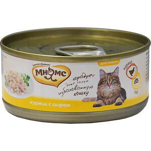 Консервы Мнямс Курица с сыром в нежном желе для кошек 70г купить болгарские консервы в москве