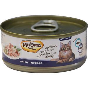 Консервы Мнямс Тунец с дорадо в нежном желе для кошек 70г корм для кошек мнямс тунец с курицей в нежном желе конс 70г