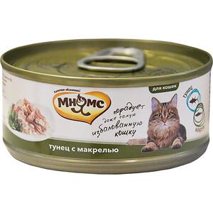 Консервы Мнямс Тунец с макрелью в нежном желе для кошек 70г корм для кошек мнямс тунец с курицей в нежном желе конс 70г