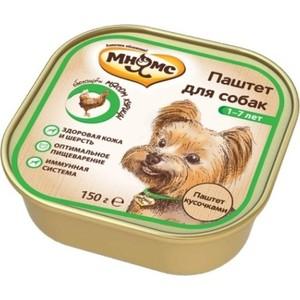 Консервы Мнямс паштет кусочками с мясом курицы для взрослых собак 150г