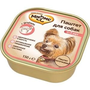 Консервы Мнямс паштет кусочками с ягненком для взрослых собак 150г