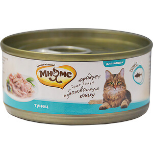 Консервы Мнямс Тунец в нежном желе для кошек 70г корм для кошек мнямс тунец с курицей в нежном желе конс 70г