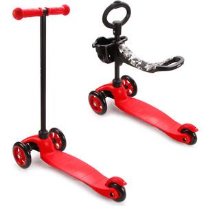 Самокат 3-х колесный Moby Kids управление наклоном, Красный (64965) самокат 3 х колесный 21st scooter 21st scooter детский самокат с сиденьем maxi scooter красный