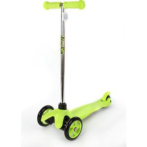 Самокат 3-х колесный Moby Kids управление наклоном, звонок, Зеленый (64967)