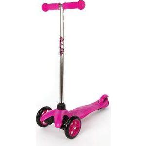 Самокат 3-х колесный Moby Kids управление наклоном, звонок, Розовый (64968)