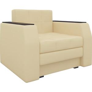 Кресло-кровать АртМебель Атлант эко-кожа бежевый