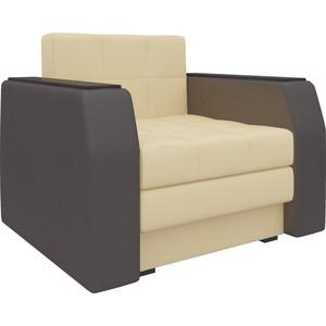 Кресло-кровать АртМебель Атлант эко-кожа бежево-коричневый кресло кровать классика коричневый page 8