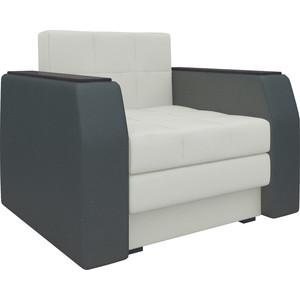 Кресло-кровать АртМебель Атлант эко-кожа бело-черный