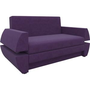 Диван АртМебель Атлант мини Т микровельвет фиолетовый