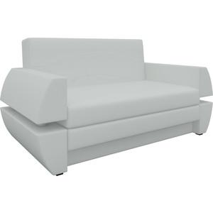 Диван АртМебель Атлант мини Т эко-кожа белый диван еврокнижка артмебель атлант эко кожа белый стол с левой стороны