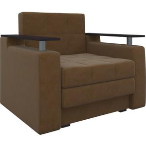 Кресло-кровать АртМебель Комфорт микровельвет коричневый кресло кровать классика коричневый page 8