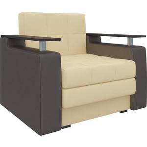 Кресло-кровать АртМебель Комфорт эко-кожа бежево-коричневый кресло кровать классика коричневый page 8