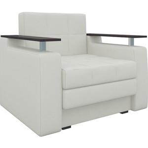 Кресло-кровать АртМебель Комфорт эко-кожа белый