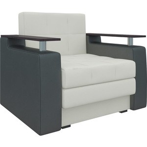 Кресло-кровать АртМебель Комфорт эко-кожа бело-черный бело черный кардиган