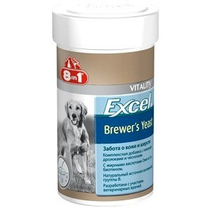 дрожжи 8in1 Excel Brewer's Yeast забота о коже и шерсти для кошек и собак 1430таб