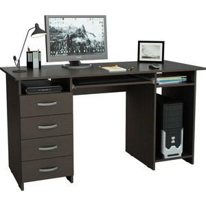 Стол письменный Мастер Милан-6П (венге) МСТ-СДМ-6П-ВМ-16 стол письменный мастер милан 6п дуб сонома мст сдм 6п дс 16