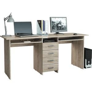 Стол письменный Мастер Тандем-2П (дуб сонома) МСТ-СДТ-2П-ДС-16 стол письменный мастер тандем 2п дуб молочный мст сдт 2п дм 16
