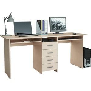 Стол письменный Мастер Тандем-2П (дуб молочный) МСТ-СДТ-2П-ДМ-16 стол мастер триан 41 дуб молочный венге мст уст 41 дм вм 16