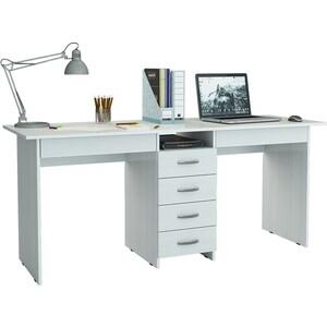 Стол письменный Мастер Тандем-2Я (белый) МСТ-СДТ-2Я-БТ-16 стол мастер триан 41 правый белый мст уст 41 бт 16 пр