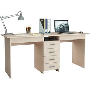 Стол письменный Мастер Тандем-2Я (дуб молочный) МСТ-СДТ-2Я-ДМ-16 стол письменный мастер тандем 2п дуб молочный мст сдт 2п дм 16
