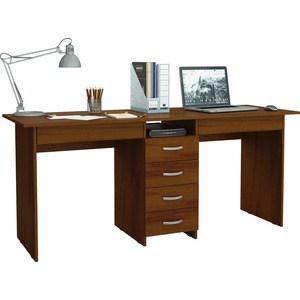 Стол письменный Мастер Тандем-2Я (орех) МСТ-СДТ-2Я-ОР-16 стол письменный мастер тандем 2я дуб молочный мст сдт 2я дм 16