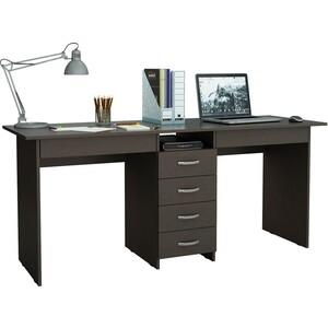 Стол письменный Мастер Тандем-2Я (венге) МСТ-СДТ-2Я-ВМ-16 стол мастер триан 41 венге мст уст 41 вм 16