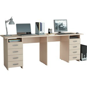Стол письменный Мастер Тандем-3 (дуб молочный) МСТ-СДТ-03-ДМ-16 стол письменный мастер тандем 2я дуб молочный мст сдт 2я дм 16
