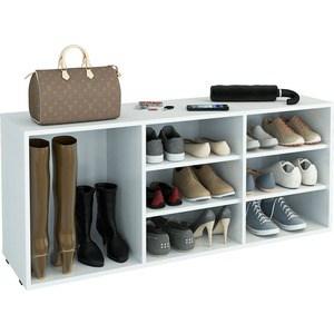 Полка для обуви Мастер Лана-3 ПОЛ-3 (1С+2П) (белый) МСТ-ПОЛ-1С-2П-БТ-16 полка для обуви мастер лана 2 пол 2 1с 1п белый мст пол 1с 1п бт 16