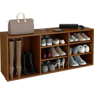 Полка для обуви Мастер Лана-3 ПОЛ-3 (1С+2П) (орех) МСТ-ПОЛ-1С-2П-ОР-16